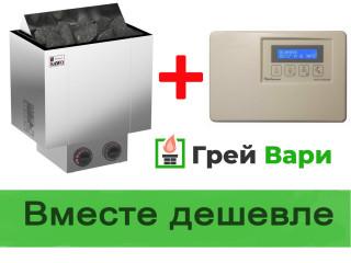 Комплектом дешевле Электрокаменка + пульт