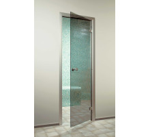 Стеклянная дверь для хаммама SAUNAX Classic - Прозр. Бронза 70х190 (69x189)