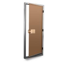 Стеклянная дверь для хаммама SAWO - Матовые Бронза 80х185