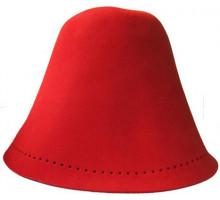 Колпак для бани фетровый Хуст (Красный)